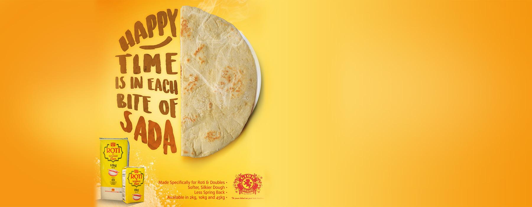 Sada Roti with Lion Brand Roti & Doubles Flour Trinidad